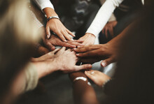 Joined Hands For Teamwork
