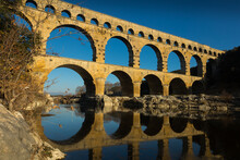 View Of Pont Du Gard, Highest Of Roman Aqueducts That Survived To This Day, France