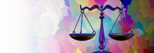 Social Justice Equality Rights As A Crowd Of Diverse People With A Law Symbol Representing Community Legislation And  An Equal Right Or Legal Lawyer Icon