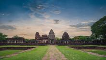 Phimai Historical Park (Thai Name : Prasat Hin Phimai) Located In Nakhon Ratchasima Province, Thailand.
