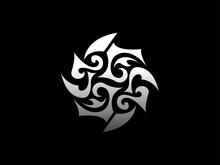 T G J S Ambigram Logo Design, Tribal Style