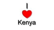 I Love Kenya Red Heart