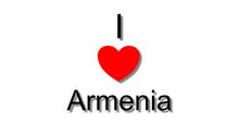 I Love Armenia Red Heart
