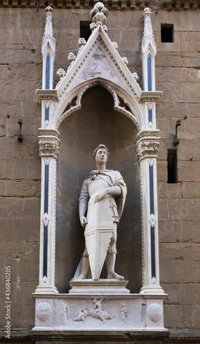 Canvas Print Statue of St. George, the sculptor Donatello
