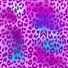 Leopard Background. Seamless Pattern. Cheetah Animal Print.
