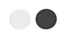 Blank Black And White Round Embroidered Patch Mockup, Top View