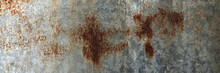 The Surface Of The Old Iron Has Rusted And Peeled Off. Rust Stains On Galvanized Sheets. Abstract Background For Decorative And Work Design.