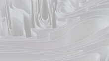 Abstract Background Made Of White 3D Ribbons. Light 3D Render.