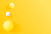 Background, Abstract Illustration Three Balls 3D Ideal For Web Pages.
