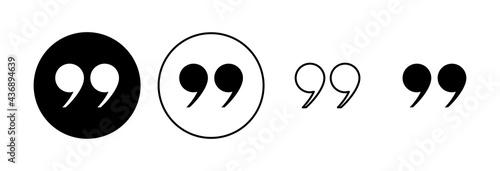 Fotografie, Obraz Quote icon set. Quotation mark symbol.