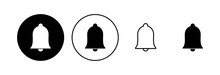 Bell Icon Set. Notification Icon For Your Web Site Design