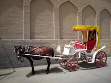 Horse-drawn Carriage In Kashan, Iran