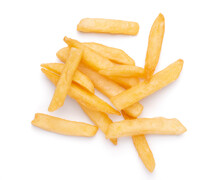 French Fries Potatoes Isolated On White Background