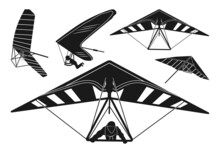 Hang Gliding, Hang Glider Clipart, Hang Glider Illustration, Hang Gliding Silhouette, Hang Glider Clipart, Hang Glider Symbol