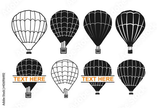 Hot air balloon, Hot air balloon Monogram, Hot air balloon split, Air Balloon, A Fototapet