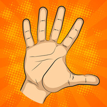 Wrist Of People Comics Sketch Picture Set. Cartoon Palm Man's Hand Banner Illustration. Human Individual Gesture Of Fives Fingers Drawing Outline. People Knukle Gesture Collection