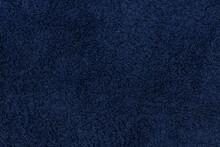 Detailed Texture Of Dark Blue Floor Carpet