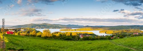 Fotografie, Obraz Solińskie Lake seen from the viewpoint in Polańczyk