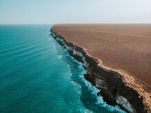 Aerial View Of The Cliffs At The Great Australian Bight, South Australia, Australia.