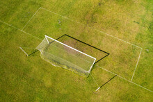 Aerial View Of A Football Field In Sebastian River Middle School, Sebastian, Florida, United States.
