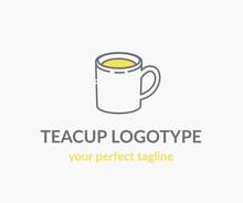 Logo. A Cup Of Tea. Vector Icon.