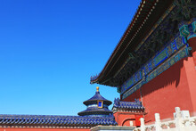Chinese Classical Architectural Landscape In The Temple Of Heaven, Beijing