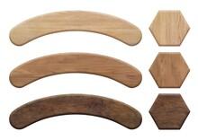 アーチ状と6角形の木の板セット