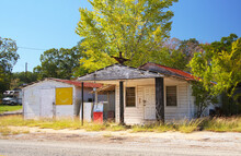 Old Abandoned Gas Station Rural Eastern Texas
