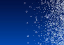 Silver Snow Vector Blue Background. Abstract