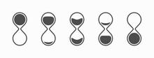 Hourglass Icon, Flat Design Illustration