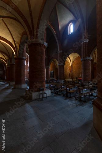 Wallpaper Mural Morimondo, Italy - 2021, May 22: interior perspective shot of the Morimondo Abbey, located in northern Italy