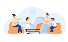 Family Home Activities Concept