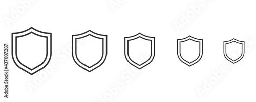 Fotografie, Obraz Shield icon quarantine. Shield symbol vector sign