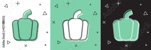 Fotomural Set Bell pepper or sweet capsicum icon isolated Set background