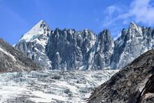 Vue Du Glacier D'Argentière. Chamonix-Mont-Blanc. Haute-Savoie. France
