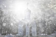 Religion Architecture Russia, Orthodox Temple Church Landscape
