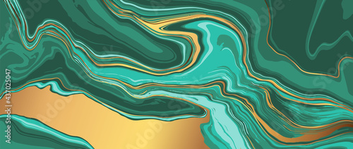 Marble and gold abstract background vector. Marbling wallpaper design with natural luxury style swirls of marble and gold powder.