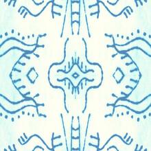 Frosty Seamless Background. Teal Gypsy Pattern.