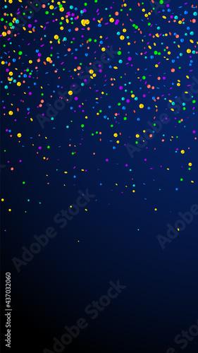Fotografia Festive pleasant confetti. Celebration stars. Brig