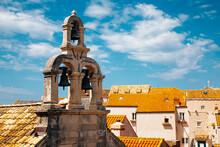 Church Bells And Dubrovnik Old Town In Croatia