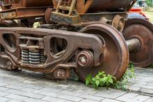 Abandoned Railway Old Mine Car Close-up