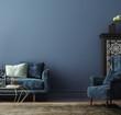 canvas print picture - Home mockup, modern interior background, 3d render
