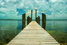 Bay View From A Dock In The Florida Keys