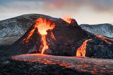 Volcanic Eruption In Geldingadalur And Fagradalsfjall - Iceland
