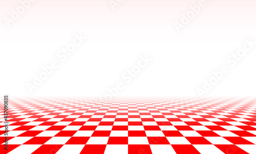 Foto Abstract checkered floor in surreal interior