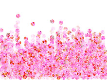 Rose Gold Tinsels Confetti Placer Vector Composition. Valentine's Day Background Design. Luxury Glowing Tinsel Particles Party Glitter. Romantic Love Valentine Confetti.