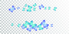Fairy Blue Butterflies Flying Vector Wallpaper. Summer Ornate Moths. Wild Butterflies Flying Girly Background. Tender Wings Insects Graphic Design. Nature Creatures.