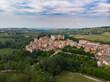Costigliole d'Asti town village (Piemonte, Italy): aerial landscape monferrato langhe wine capital