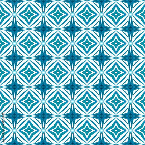 Tapety Orientalne  recznie-rysowane-tropikalny-bezszwowe-granica-niebieski