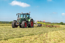 Agricultural Machinery During Haymaking In The Field - 5213